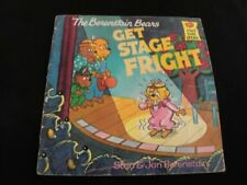 1986 Vintage Children Book The Berenstain Bears Get Stage Fright Picture Book