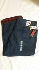 New Men's Weatherproof 32 Degrees Heat Flannel Lined Blue Jeans 40 x 30 NWT