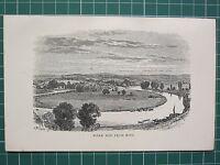 1888 Antico Stampa ~ Fiume Wye Da Ross