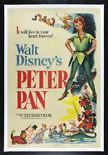 PETER PAN ✯ CineMasterpieces 1953 WALT DISNEY VINTAGE ORIGINAL RARE MOVIE POSTER
