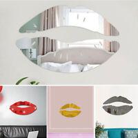 Modern 3D Mirror Wall Sticker Art DIY Decal Mural Removable Home Wall Decor US