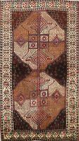 Traditional Semi Antique Handmade Wool Area Rug Geometric Oriental Carpet 4x6