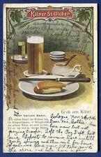 Gruss Aus Koln Kolner Stilleben beer & sandwiches Germany postcard