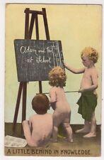 Adam & Eve at School, Children Comic Postcard, B674