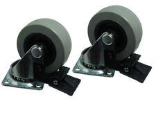 12 de 50mm PLAQUE FIXE Simple Roulette roue pivotante avec frein roulettes