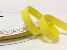 2 metres Yellow 10mm Cotton Herringbone Webbing Ribbon Craft Sewing Clothes