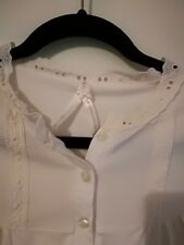 Hot Options Lace Trim White Top Size 16