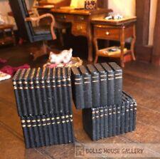 Blocks Of Books, Black, Dolls House Miniature, Book, Accessory