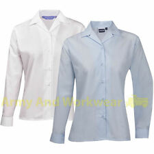Long Sleeve Business Collared Tops & Shirts for Women