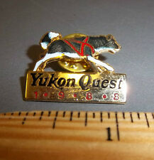 1988 Lapel Pin Yukon Quest Dog Sled Race Whitehorse yukon to Fairbanks Alaska