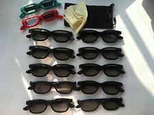 10 Pairs Adult + 2 Pair Kids Passive 3D glass Glasses for Vizio LG Hisense Haier