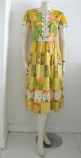 THE LILLY LILLY PULITZER COLORFUL DRESS LACE DETAILS Vintage 1970's Beauty