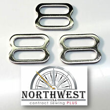"""1 Inch Nickel Plated Steel Triglides / Slides for 1"""" Webbing ~ 2000 per lot"""