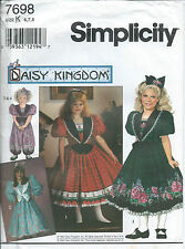 S 7698 sewing pattern Daisy Kingdom DRESS ROMPER Playsuit sew vintage girl 6,7,8