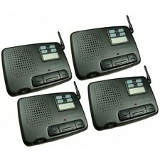 4 Channel 4 Units FM Digital Genuine Wireless Intercom Set Office Home Garden