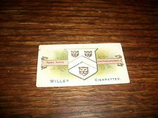 1905 Will's Cigarettes Town Arms Stratford Upon Avon Vintage RARE Tobacco Card