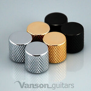 2 x NEW Vanson Large Flat Top Knobs for Telecaster® Tele® guitar, Push-On  VP005
