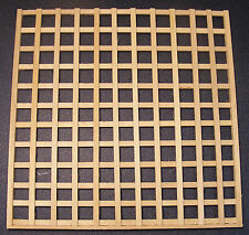 1:12 Scale Natural Finish Wood Trellis Panel Dolls House Garden Fence Accessory