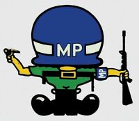 ARMY MILITARY POLICE MP UNDER HELMET  STICKER DECAL