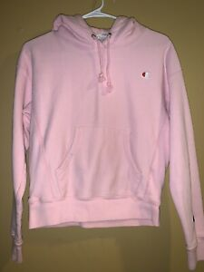 Vintage WOMEN'S Champion Reverse Weave Pullover Hoodie Spiced Almond Pink XS
