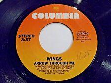 Paul McCartney & Wings Arrow Through Me / Old Siam Sir 45 1979 Vinyl Record