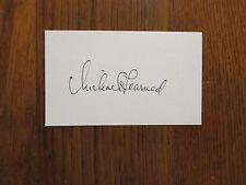 "MICHAEL  LEARNED  (""The Waltons/Nurse/Olivia Walton"")  Signed  3 x 5  Index Card"