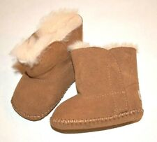 UGG Baby Brown Suede Booties Size 2/3