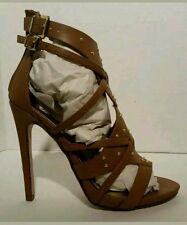 """Womens Delicious Elza Camel Strappy 5"""" Heels US Sz 9"""