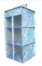 Hanging 3 shelf closet storage organizer/ zip sealed