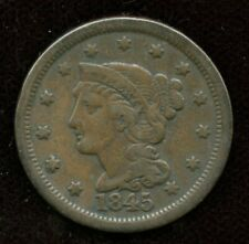 1845 Braided Hair Large Cent - VF Condition