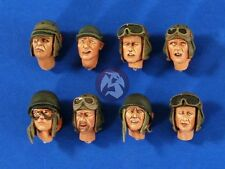 Verlinden 1/35 US Tanker Soldier Heads WWII (8 heads) [Resin Figure Acces.] 2666