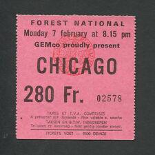 Original 1977 Chicago concert ticket stub Belgium Terry Kath 25 or 6 to 4