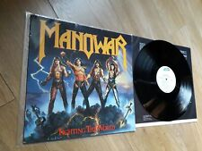 Manowar LP Fighting The World + LYRIC INNER SLEEVE 790 563-1 ATCO 1987 ALSDORF