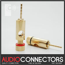 (10x) Hi-Fi 2mm Audio Pin Connector / Adaptor for Banana Plug Spade, wire (PJ1)