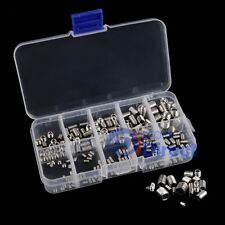 200pcs Stainless Steel Hex Socket Screw Set Screw Grub Assortment Kit M3-M8 AU