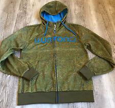 Burton Full Zip Dryride Hoodie Men's Size Small Green Blue