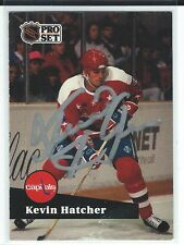 Kevin Hatcher Signed 1991/92 Pro Set Card #249