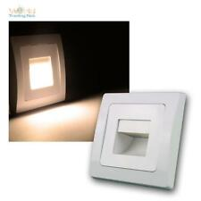 """DELPHI LED Einbauleuchte """"COB"""" weiß 110lm 80x80mm, Wandeinbauleuchte Stufenlicht"""