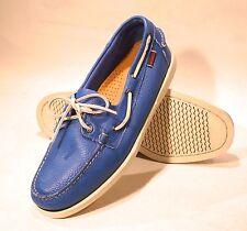 men's sebago docksides casual boat shoes bright blue (720050)11.5 US