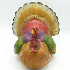 Resin Turkey Figure with Carved Wood Look