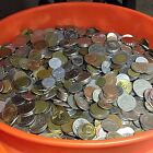 10 lbs mixed FOREIGN COINS, Bulk World Coins by the Pound! Many countries! <br/> FREE SHIP - MANY HUNDREDS OF COINS