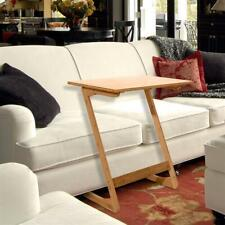 Z-Shaped Bamboo Sofa Side Table Bed Side Table A Useful Workstation