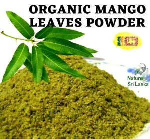 Dried Homemade Organic MANGO LEAVES POWDER 50g Natural Ceylon Best Herbal Tea