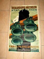 Ancienne affiche - CARILLON MALINES - Beiaardspel Mechelen - STAF NEES - 40/50's