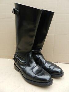 Sz 11G GOLDTOP TROPHY BLACK LEATHER CLASSIC/TOURING BOOTS, COMMANDO SOLE