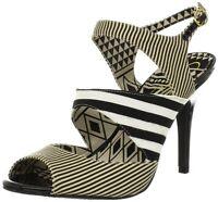 Jessica Simpson Women's Philomena Heels Open Toe Sandals - Black / White