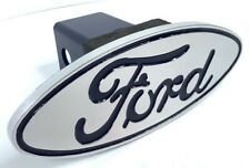 Ford Oval Logo Emblem Tow Hitch Cover Licensed - Fits 2'' Recievers