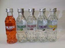 Finlandia Vodka 37,5% set 5 x 50 ml mini bouteilles Bottle miniature BOTTELA
