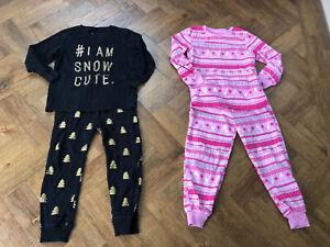Girls Christmas Pyjamas Next And F&F 4-5 Years