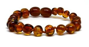 Genuine Baltic Amber Bracelet/Anklet Knotted Beads sizes 14-26 cm
